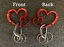 thumbnail 1 - Navy - Carabiner and/or Keyring (male or female - your choice)