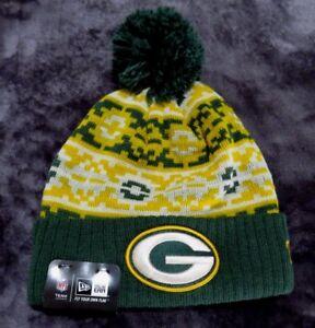 35775e59c22 New Era NFL Green Bay Packers Retro Chill Pom Cuffed Beanie (Green ...