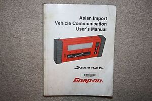 snap on mt2500 scanner asian primary users manual zmt2500 1401 rh ebay com Communications Manual for Organizations Sample Communications Manual