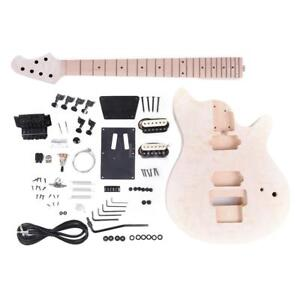 High-Quality-Unfinished-DIY-Electric-Guitar-Kit-Basswood-Body-Maple-Neck