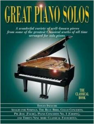 1 of 1 - Great Piano Solos - The Classical Book, Very Good, Music Sales Book