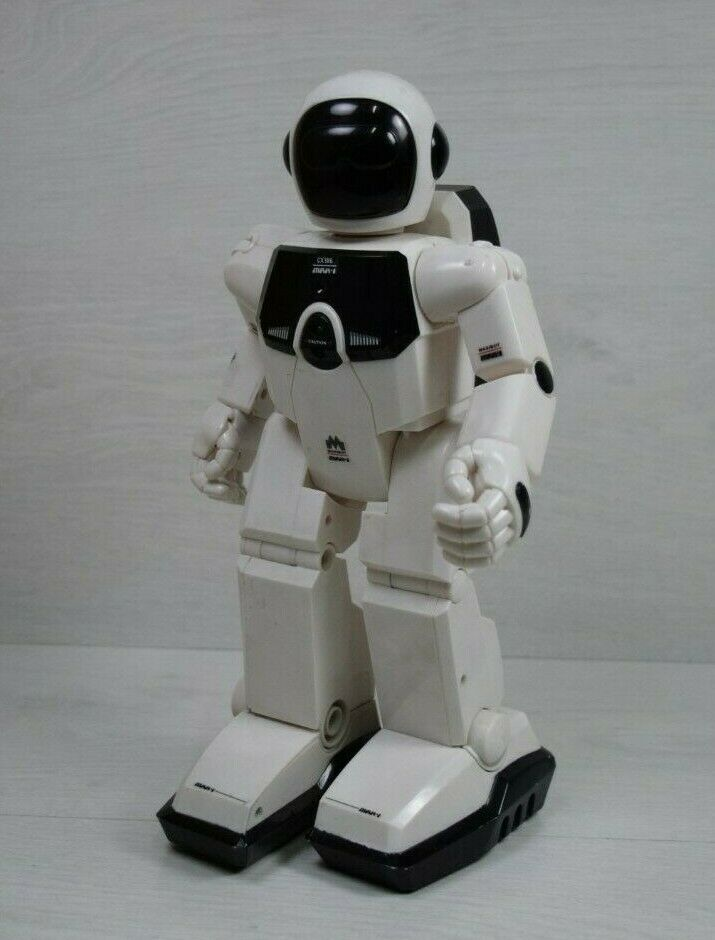 Vintage argentolit Maxibot Max 1 GX 386 Programmable Remote bianca 12 Robot Honda