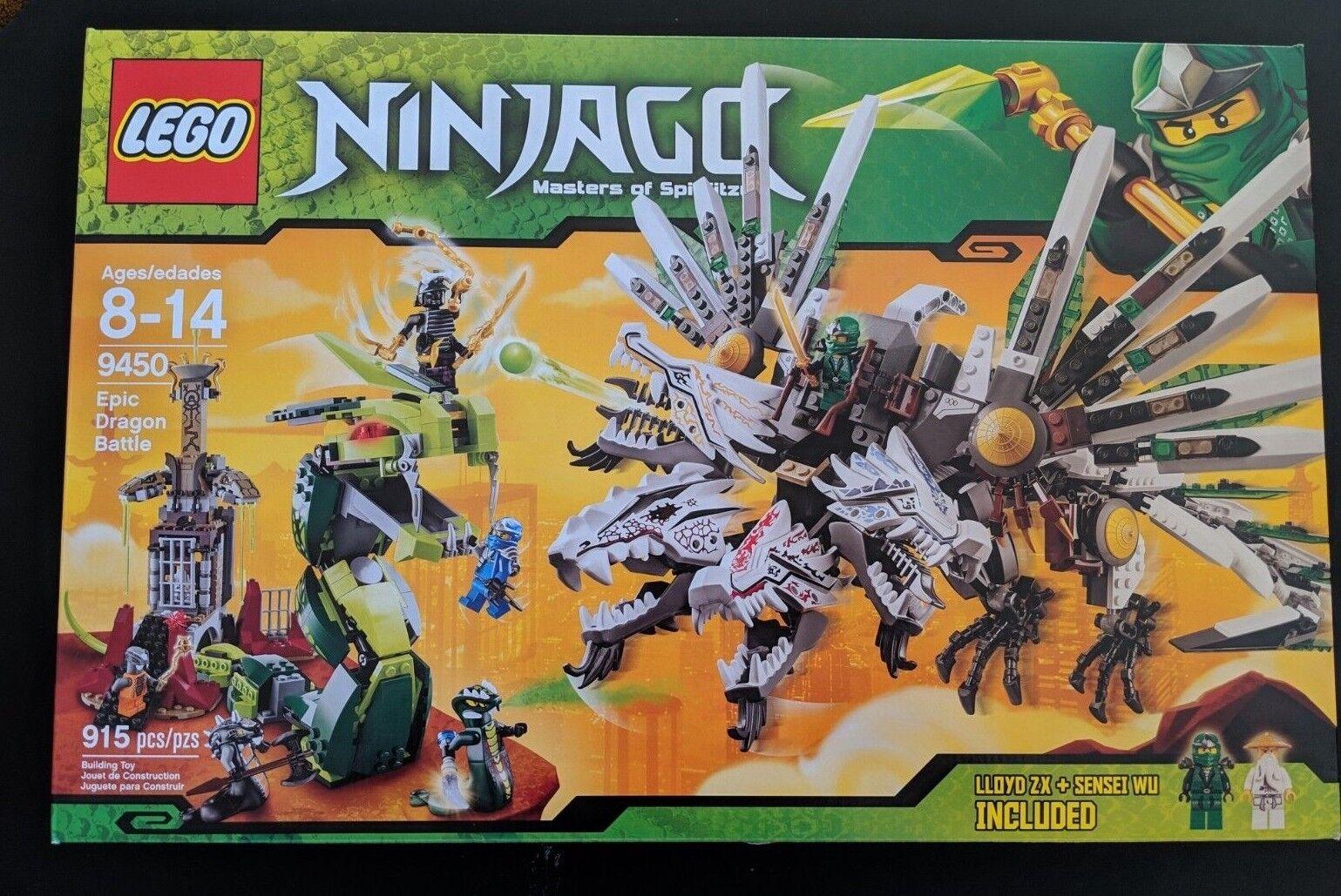 Lego Ninjago épica batalla Dragon totalmente nuevo en caja sellada de fábrica-retirado