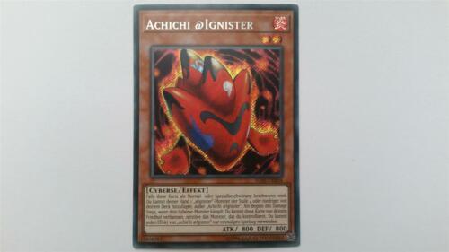 "Edition! Near Mint YUGIOH! /""Achichi @Ignister/"" IGAS-DE004 Secret Rare 2"