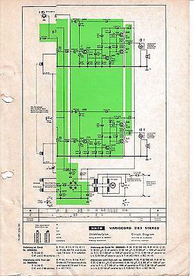 Angemessen Service Schema Für Uher Variocord 263 Stereo Starke Verpackung