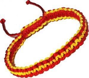 Pulseras-roja-y-amarilla-para-hombre-y-mujer-de-colores-de-la-bandera-de-Espana