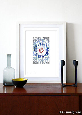 I Can See For Miles ❤  song lyrics typography poster art print #132 THE WHO