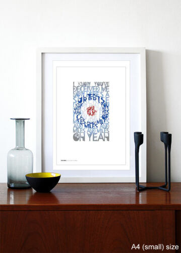 I Can See For Miles ❤ song lyrics typography poster art print #10 THE WHO