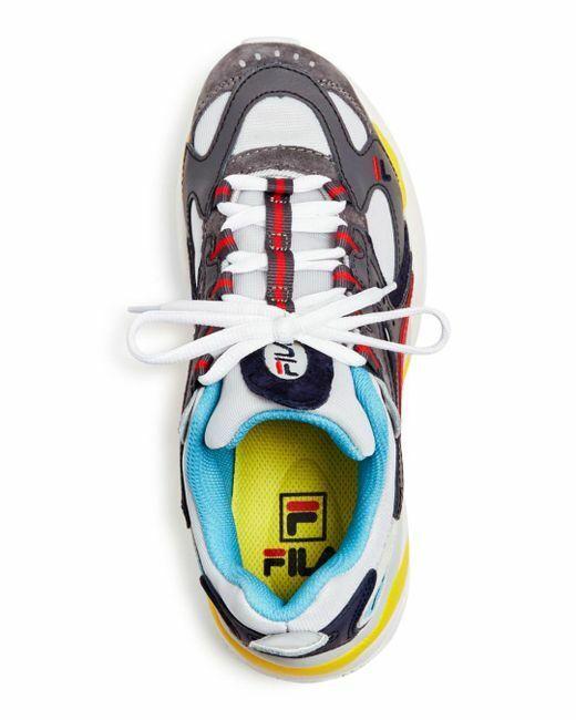 NEW donna FILA FILA FILA BOVEASORUS LIMITED EDITION grigio rosso giallo RUNNING LOW scarpe da ginnastica ab63f1