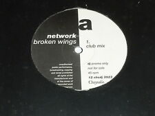 "NETWORK - Broken Wings - 12"" UK Vinyl Single - DJ PROMO"