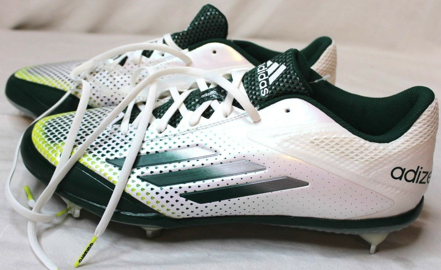 Adidas Adizero Afterburner 2.0 Low Metal Mens Baseball Cleats Green White S85709