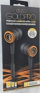 5dd45b8fbda Sentry Gold Pro Metal Earbuds With In-line Mic & Deluxe Case Black H8001