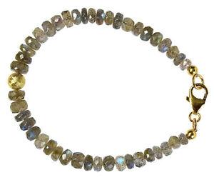LABRADORIT-Armband-925-Silber-vergoldet-Armkette-D925