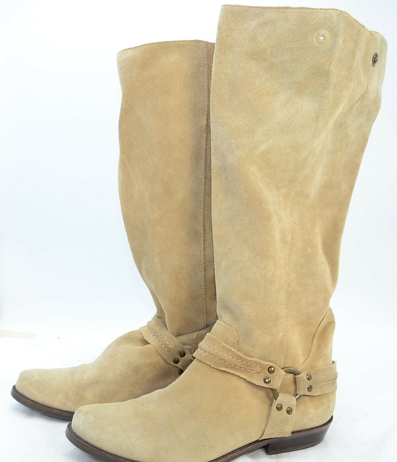 Franco Sarto Collection Suede Leather Equestrian Riding Knee High Boots Sz 9.5