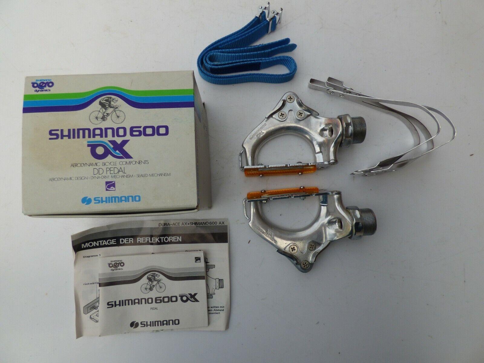 SHIMANO 600 AX PD-6300 PEDALS TOE CLIPS TOE STRAPS
