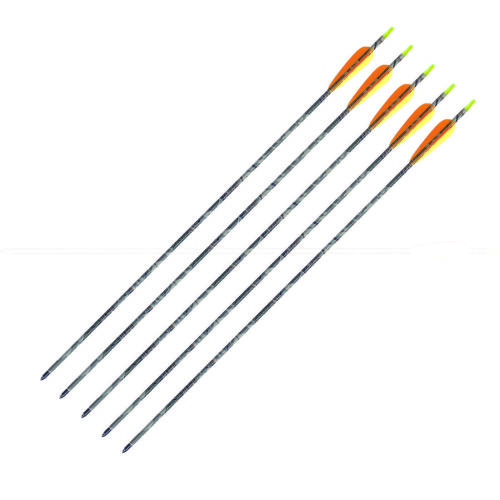 "5 x 30/"" Carbon Arrows Camo Archery Hunting Armex Bow"
