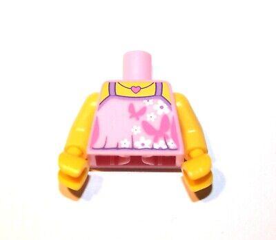 1x LEGO® Torso Körper Mädchen Top Schmetterlinge Herzkette 973pb2023 NEU Pink