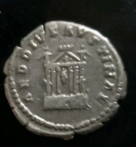 Faustina I 138-141 Ad. Roman Imperial.hexastyle Temple. Silber Denarius