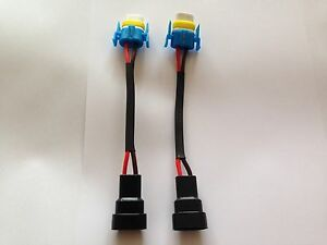 H11 H8 Ceramic BULB Connector to 9006//HB4 Conversion Pigtail Harness plug /&play