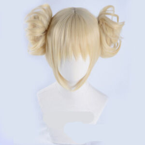 Himiko-Toga-Wig-My-Hero-Academia-Short-Light-Blonde-Ponytail-Cosplay-Hair-Cap
