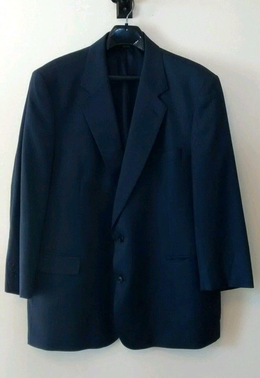 Brooks Brothers Brooksease Blau Herringbone Wool Silk Blend Blazer 48R