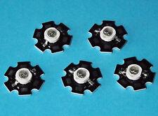 5 X 5W 850nm IR POWER  LED on HEATSINK Kühlkörper Emitter Infrarot Infrared 5mm