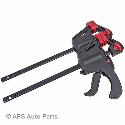 """New 2pc Quick Grip Ratchet Vice Bar Clamps 4"""" / 100mm Rapid Clamp Spreader Set"""
