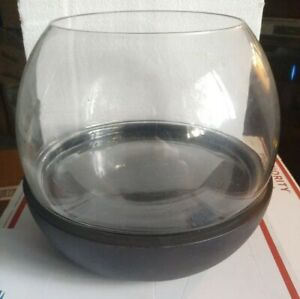 Smith-amp-Hawken-Terrarium-Glass-amp-Wood-Black-NIB