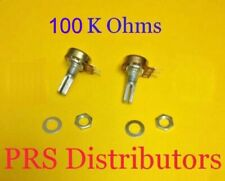 100k Ohm Linear Panel Mount Volume Control Potentiometer B100k100 K Ohm 2 Pieces