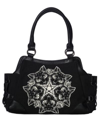 Lost À Chat Pentagramme Main Lune Noir Punk Gothique Queen Sac Bg7245 r4qx0wr5