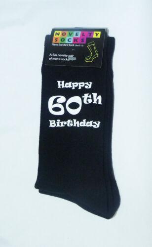 Happy 60th Birthday Printed Design Mens Black Socks Great 60th Birthday Gift
