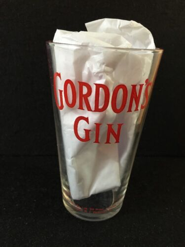 Gordons Gin Pint Glass Dogs Nose Beer Cocktail Vintage Rare