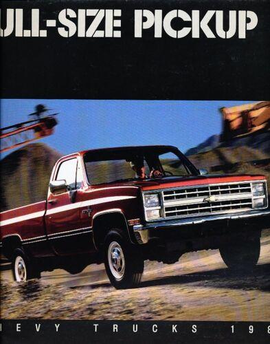 1987 Chevrolet Truck Silverado C//K Original Sales Brochure Pickup