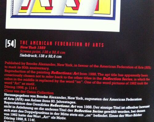 P:91 Leo Casteelli Poster 20.8X 34.7cm Pop Art Roy Lichtenstein 1987//89 ART