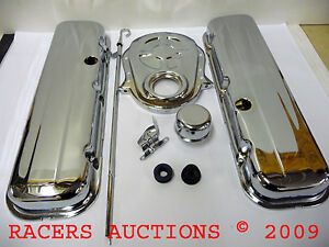 Big-Block-Chevy-Chrome-Engine-Dress-Up-Kit-427-454-BBC-w-Valve-Covers-Timing