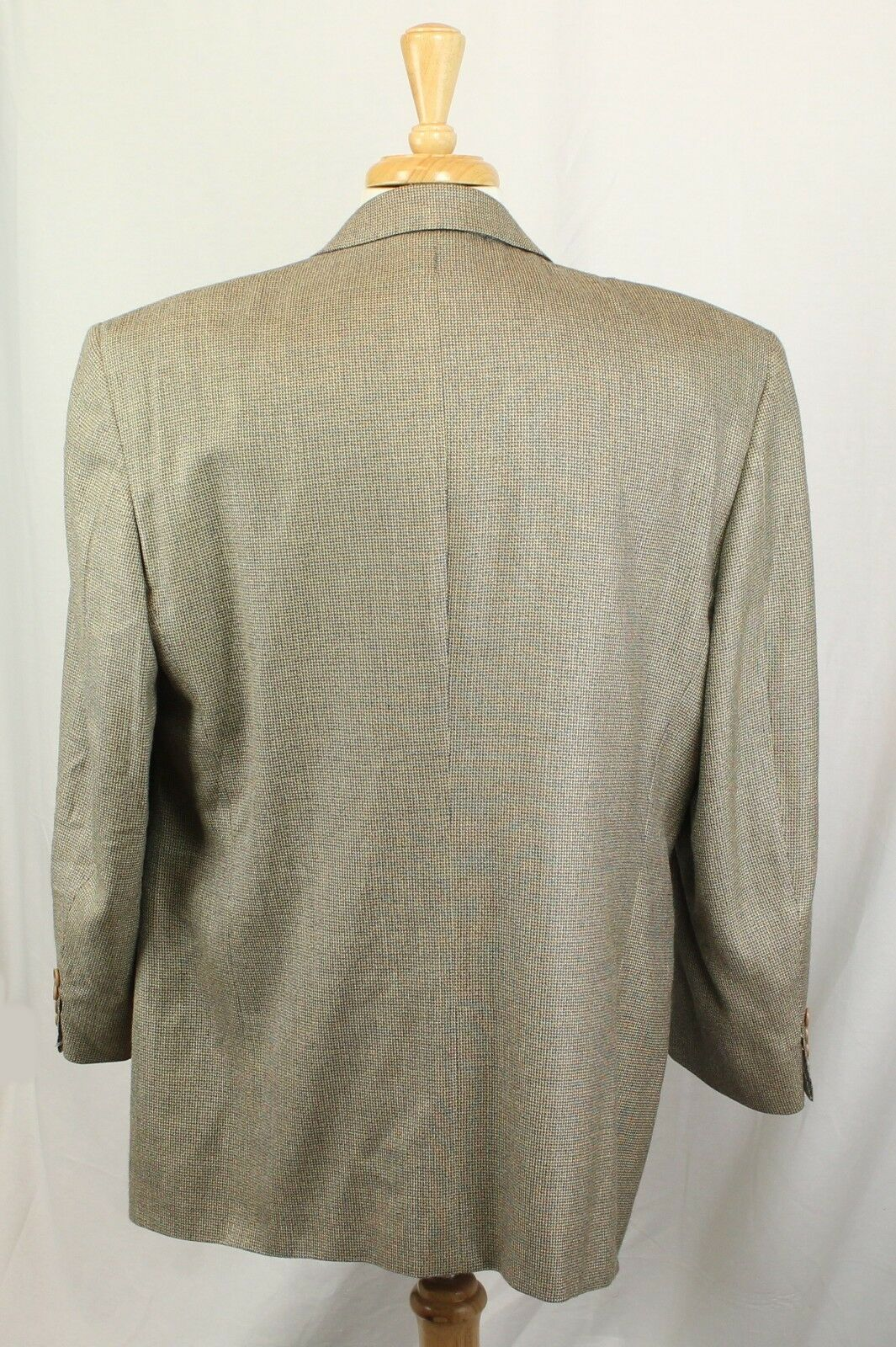 Canali Nailhead Silk Wool Blend Blend Blend Three Button No Vent Sport Coat EU 56R US 46R 69a910