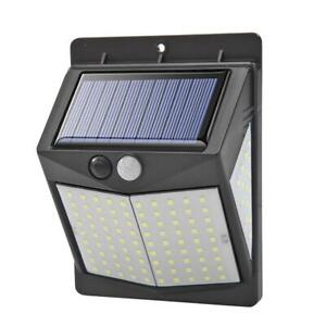 LED Solar Lampe mit Bewegungsmelder Außen Fluter Sensor Strahler Solarleuchte DE