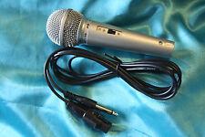 SALE! J&B Budget Priced Popular Style Hi-Z Microphone w/Switch, Silver, MC139S