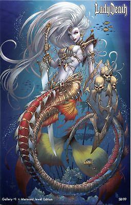 Lady Death Galley #1 ~ Mermaid Jewel Edition ~ Coffin Comics ~ SDCC 2017