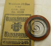 Waltham 16s Model 2208 Mainspring 1 Piece T End