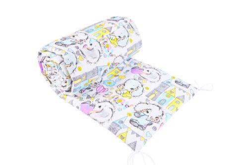 Gepolstert Nestchen Passend Für Wiege Baby Bettwäsche Rundum 100/% Baumwoll 260cm