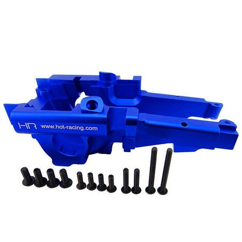 Hot Racing SUM1306 Azul mamparo trasero de aluminio Traxxas Summit