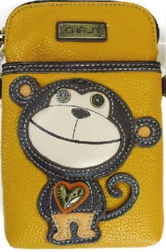 Nieuwe mobiele riem Chala tas telefoon geel verstelbare Monkey Crossbody bruin k0wnOP8X