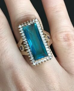Turkish-Handmade-Sterling-Silver-925-Aquamarine-Ring-Ladies-6-7-8-9
