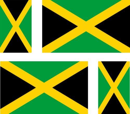 4 X Adesivo Auto Sticker Tuning Moto Auto Stickers Bandiera Bandiera Giamaica