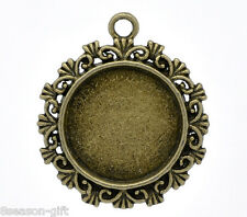 10 Gift Bronze Plated Frame Cameo Settings 34x30mm