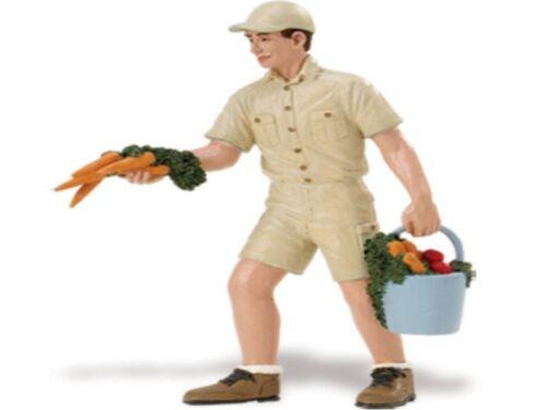 Un allevatore John Con Carote 10 Cm Serie Persone Safari Ltd 297729