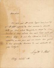 Littérature Auguste de Stael lettre autographe signée Madame de Saint-Lary