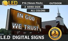 Led Digital Sign Board Outdoor P16 Mm Double Sided 48x 96 Full Color Sign