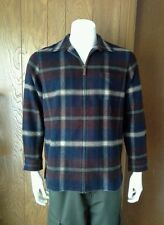 Men' LAUREN RALPH LAUREN 100% LAMBS WOOL PLAID  FLANEL SHIRT COAT JACKET LARGE